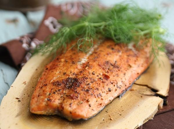 Cedar Plank Smoked Salmon with Fennel