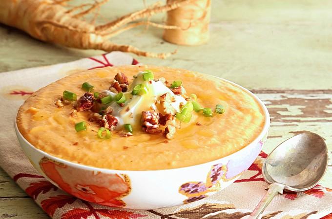Parsnip Sweet Potato Soup