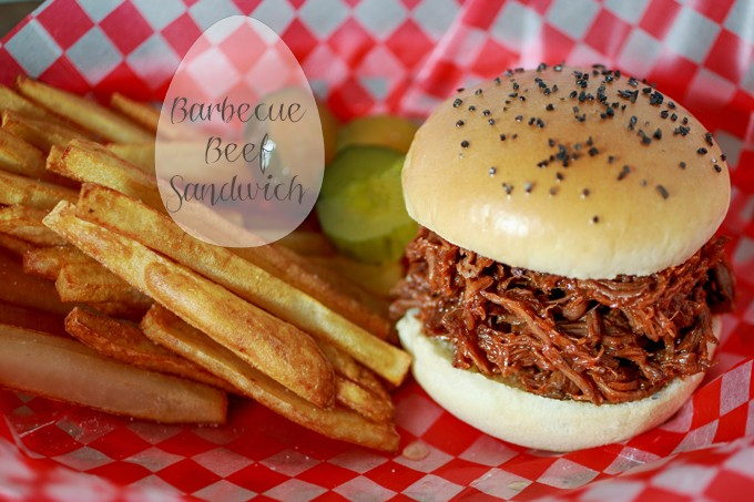 Barbecue Beef Sandwich with Fries