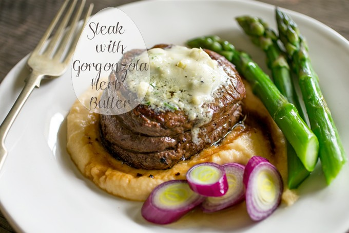 Filet Mignon with Gorgonzola Butter