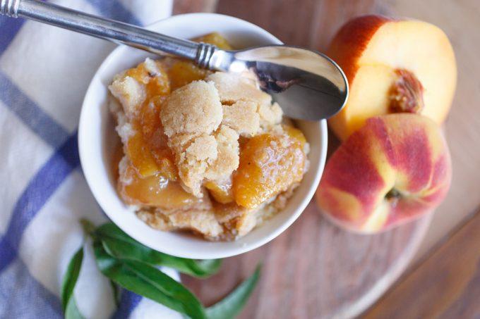 Roasted Peach Cobbler